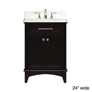 Water Creation Manhattan Collection Single Sink Bathroom Vanity Set