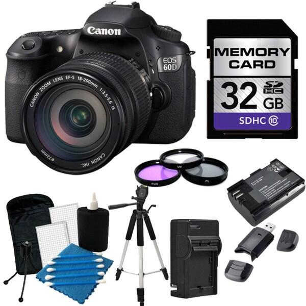 Canon EOS 60D Pro Digital SLR Camera with 18-200mm IS EF-S Lens Bundle