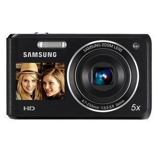 Samsung DV101F Dual View 16.1MP Black Digital Camera