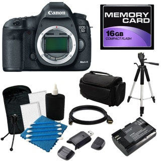 Canon EOS 5D Mark III 22.3MP Digital SLR Camera (Body Only) with 16GB Bundle