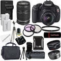Canon EOS Rebel T3I Digital SLR Camera with 18-55mm &amp; 55-250 IS II Lens Bundle