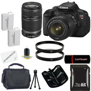 Canon EOS Rebel T4I Digital SLR Camera with 18-55 &amp; 55-250 IS II Lens Bundle