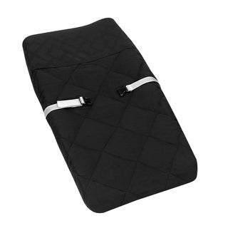 Sweet JoJo Designs Black Diamond Jacquard Modern Baby Changing Pad Cover