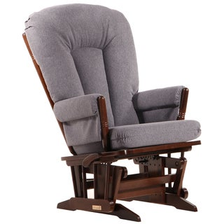 Dutailier Ultramotion Multi-position Coffee/ Dark Grey Reclining 2-post Glider
