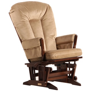 Dutailier Ultramotion Multi-position Coffee/ Light Brown Reclining 2-post Glider