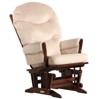 Dutailier Ultramotion Multi-position Coffee/ Light Beige Reclining 2-post Glider