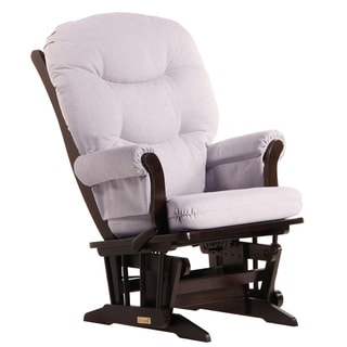 Dutailier Ultramotion Multi-position Espresso/ Light Grey Reclining Sleigh Glider