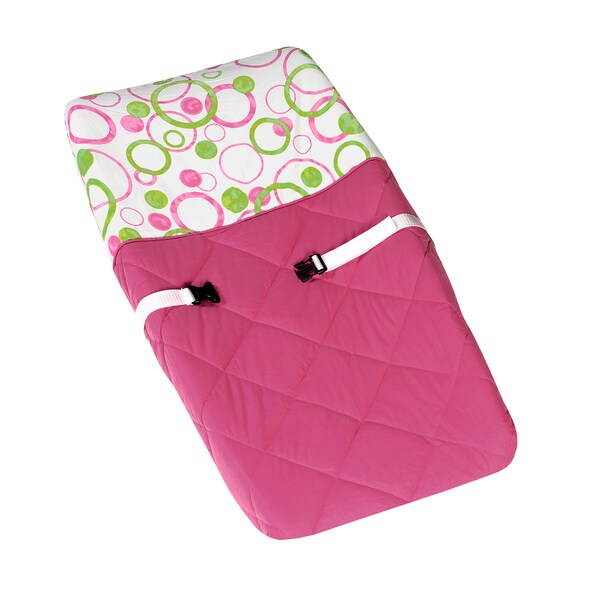 Sweet JoJo Designs Circles Pink and Green Baby Changing Pad Cover