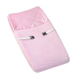 Sweet Jojo Designs Pink Chenille and Satin Girls Changing Pad Cover