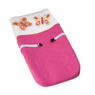 Sweet Jojo Designs Pink and Orange Butterfly Changing Pad Cover