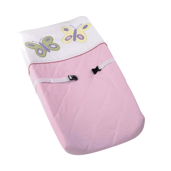 Sweet Jojo Designs Pink and Purple Butterfly Changing Pad Cover