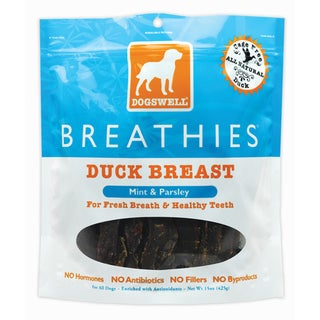Dogswell Breathies Duck Jerky (15-ounces)