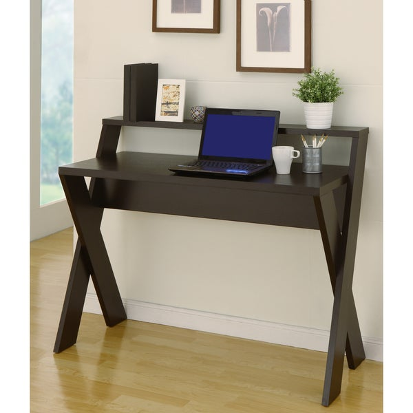 Furniture of america intersecting home office desk for Great home office desks