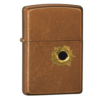 Zippo Bullet Hole Brown Lighter