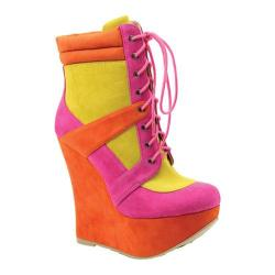 Women's Luichiny A Spiring Orange/Raspberry/Yellow Imi Suede