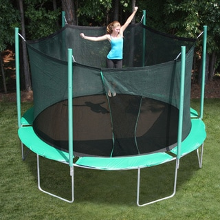 SportsTramp Extreme 13.5-foot Round Trampoline with Cool Mat and Detachable Cage