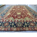 Hand-knotted Agra Palace Size Red Wool Rug (15'2 x 25'9)