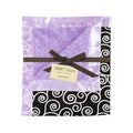 Sweet JoJo Designs Kaylee Purple and Black Minky Swirl Baby Blanket