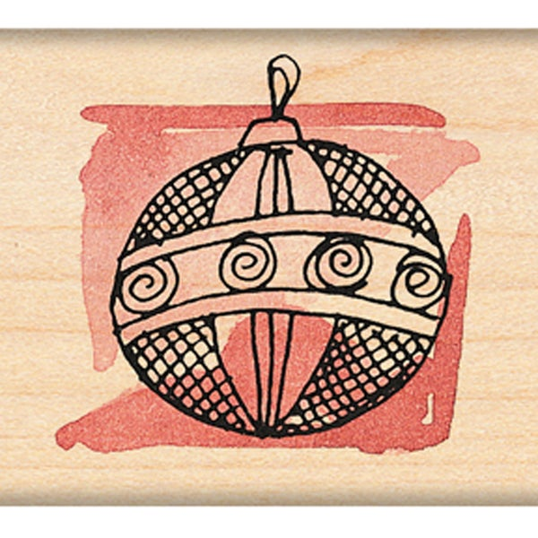 "Penny Black Mounted Rubber Stamp 1.5""X1.5""-Ornament B"
