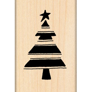 "Penny Black Mounted Rubber Stamp 1.25""X1.75""-Star Tree #3"