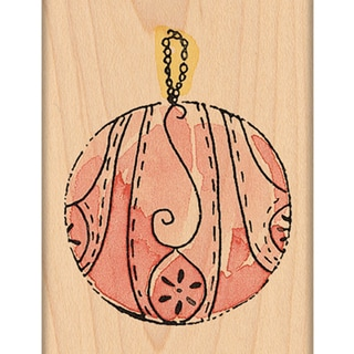 "Penny Black Mounted Rubber Stamp 1.75""X1.75""-Ornament"