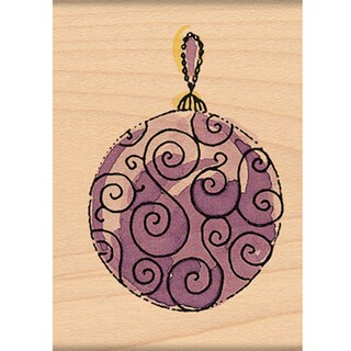 """Penny Black Mounted Rubber Stamp 1.75""""X2""""-Scroll Ornament"""
