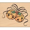 "Penny Black Mounted Rubber Stamp 2.25""X2.75""-Jingle Bell Corner"