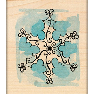 "Penny Black Mounted Rubber Stamp 2.25""X2.75""-Scroll Snowflake"