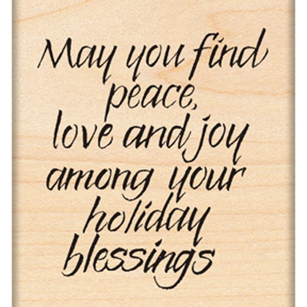 "Penny Black Mounted Rubber Stamp 2.25""X2.75""-Holiday Blessing"