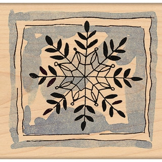 "Penny Black Mounted Rubber Stamp 2.25""X2.25""-Framed Snowflake"