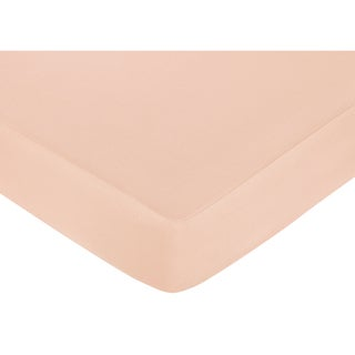 Sweet JoJo Designs Baby Annabel Peach Fitted Crib Sheet