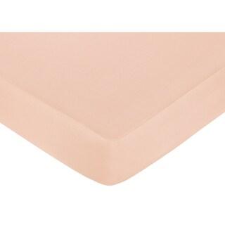 Sweet JoJo Designs Baby Annabel Peach Fitted Crib Sheet