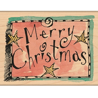 "Penny Black Mounted Rubber Stamp 2.25""X2.75""-Star Merry Christmas"