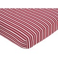 Sweet JoJo Designs Vintage Aviator Red Stripe Fitted Crib Sheet
