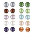 M by Miadora Silvertone Multi-colored Pearl 10-piece Earring Set (7 mm)