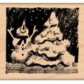 "Penny Black Mounted Rubber Stamp 2.5""X2.75""-Hooray Snow!"