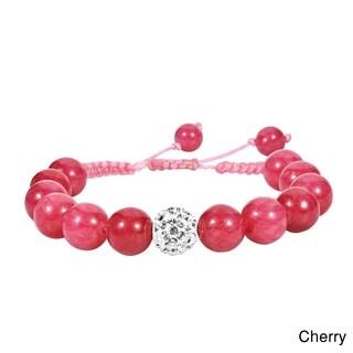 Macrame Beams Crystal Ball Adjustable Bracelet (Thailand)