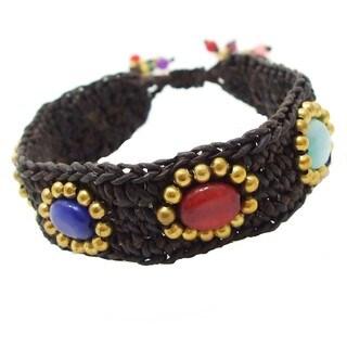 Trendy Oval Harmony Multicolor Stone Bracelet (Thailand)