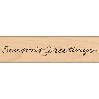 """Penny Black Mounted Rubber Stamp 1""""X5""""-Season's..."""