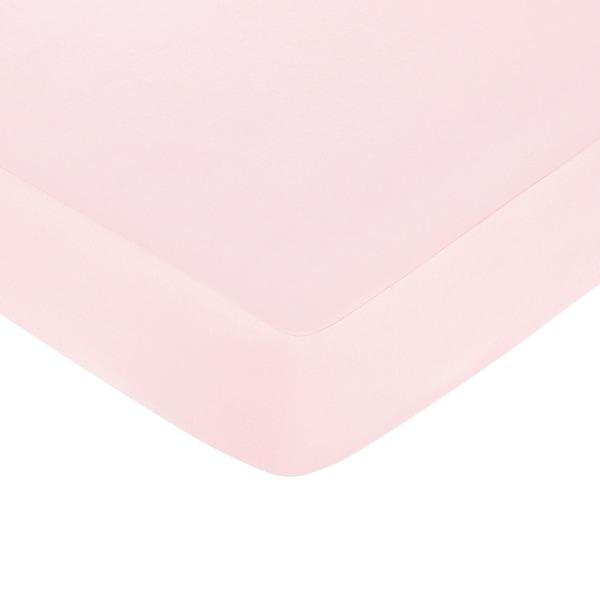 Sweet JoJo Designs Pink Fitted Crib Sheet
