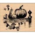 "Penny Black Mounted Rubber Stamp 3.25""X3.5""-O'lanterns"