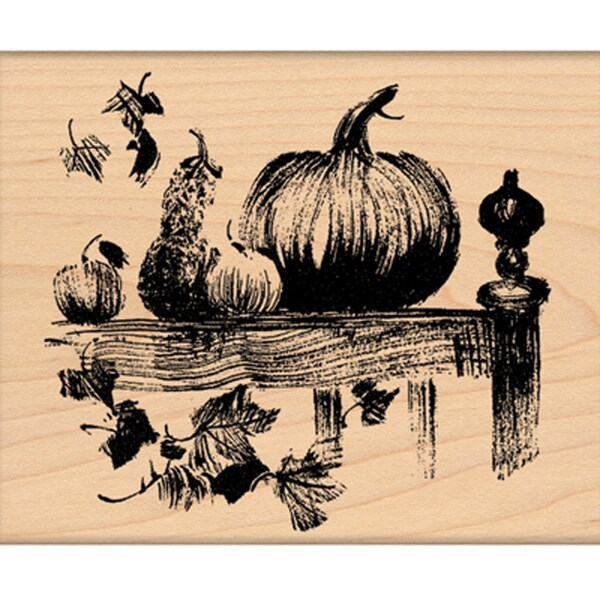 "Penny Black Mounted Rubber Stamp 3.25""X3.5""-O'lanterns"