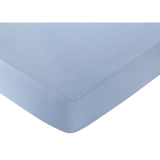 Sweet JoJo Designs Come Sail Away Blue Fitted Crib Sheet
