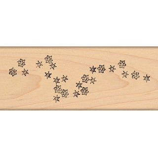 "Penny Black Mounted Rubber Stamp 1.75""X4.5""-Snowfalling!"