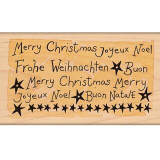 "Penny Black Mounted Rubber Stamp 2.25""X4""-Joyeux Noel!"