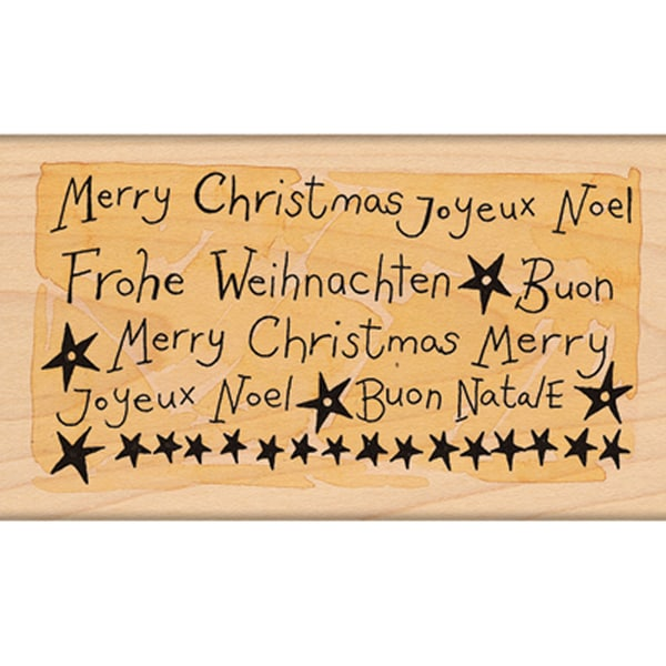 "Penny Black Mounted Rubber Stamp 2.25""X4""-Joyeux Noel!"