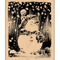 "Penny Black Mounted Rubber Stamp 3.25""X3.5""-Snowy Snowman"