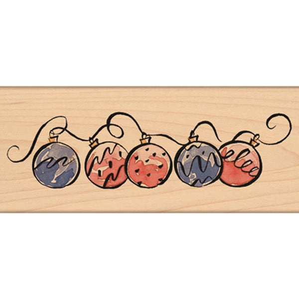 """Penny Black Mounted Rubber Stamp 2.25""""X6""""-Ornament Border"""