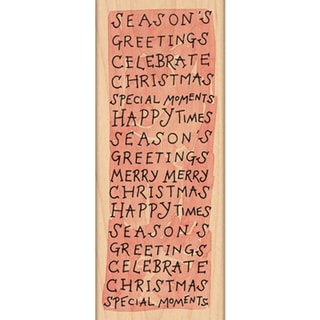 """Penny Black Mounted Rubber Stamp 2.25""""X6""""-Merry Moments"""