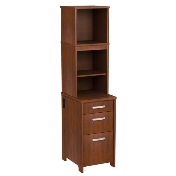 Bush Furniture Envoy Collection 3-drawer Pedestal with Hutch